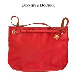 Dooney & Bourke Red Leather Oversized Travel Tote